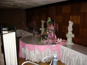 Saal des Schützenverein Velpke Geschmückt