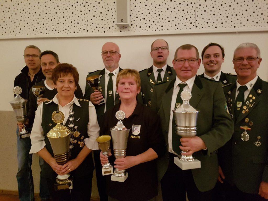 Pokalgewinner Senioren Dezember 2017